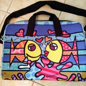 Britto Kissing Fish Laptop Bag